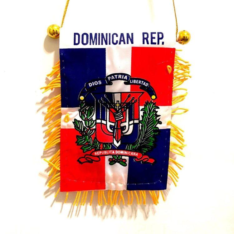 Dominican Republic, Santo Domingo, Mini Car auto Flags